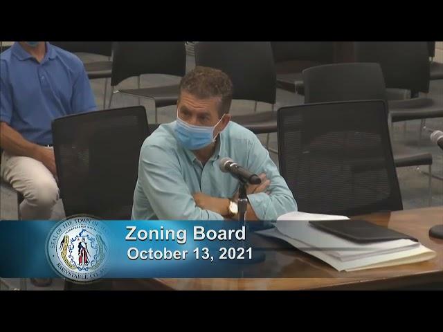 Zoning Board 10-13-21