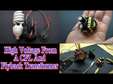 High Voltage From A CFL And Flyback Transformer