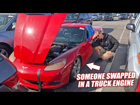 We Bought an Auction Corvette and It's an Absolute Nightmare… (Truck Engine Inside)