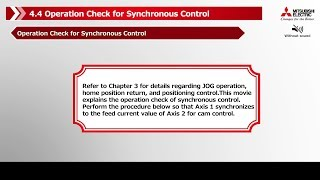 """""""4.4.1 Home position return"""" to """"4.4.2 Synchronous control start"""" (14/16)"""