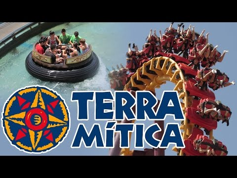 Terra Mítica in HD - A walk through the park (2012) - Magnus Colossus, Titánide, Inferno and more!
