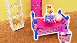 Playmobil DIY Möbel selber machen  Playmobil Kinder Zimmer basteln  Nachtschränkchen DIY