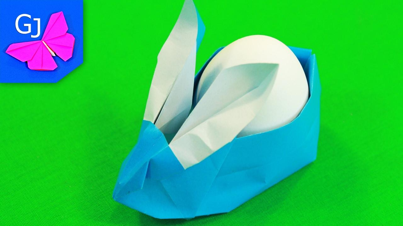 Пасхальный заяц из бумаги своими руками оригами
