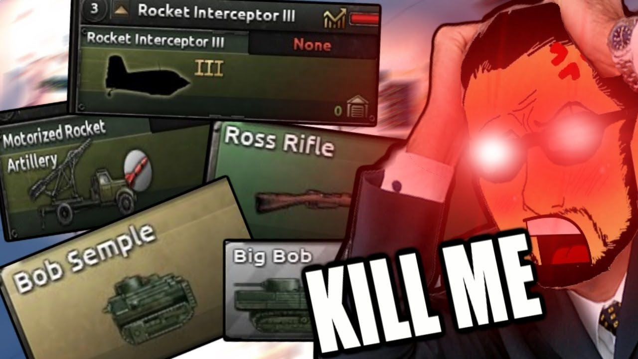 Hearts Of Iron 4: CONQUERING THE WORLD WITH MEME EQUIPMENT