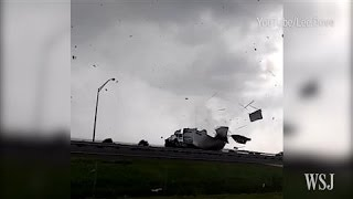 Florida Waterspout Tears Apart Truck