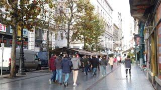 "4K Walk - Budapest, Hungary ""Main City Shopping Street in Christmas"""