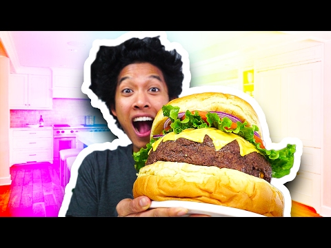 DIY Giant Cheese Burger!!!
