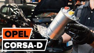 OPEL CORSA D Üzemanyagszűrő beszerelése: ingyenes videó