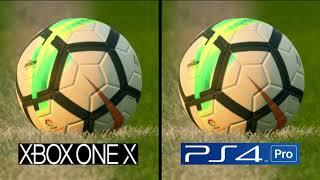 FIFA 18 | Xbox One X VS PS4 Pro 4K Graphics Comparison