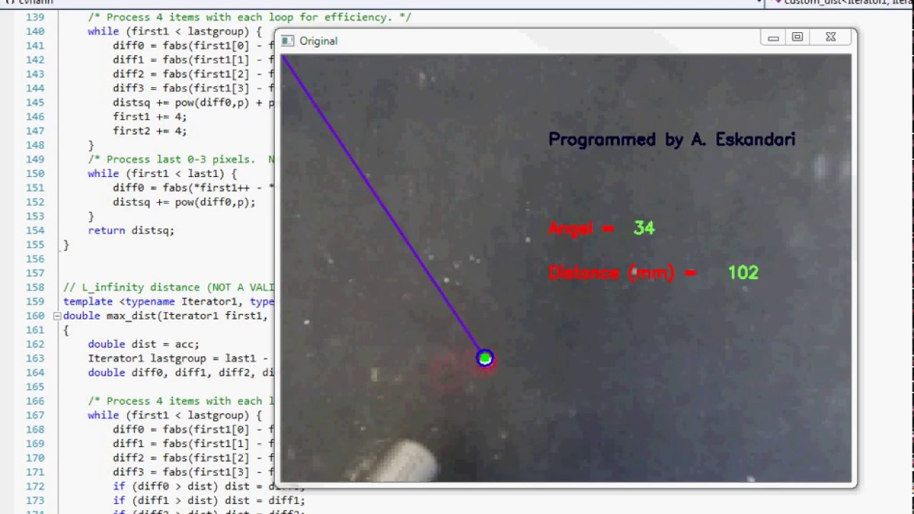 Opencv Laser Tracking - Calculation of Angle and Distance (mm) by A Esk by  amhoes
