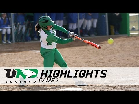 UND Softball - Highlights - Game 2 vs. South Dakota State - 4/5/17