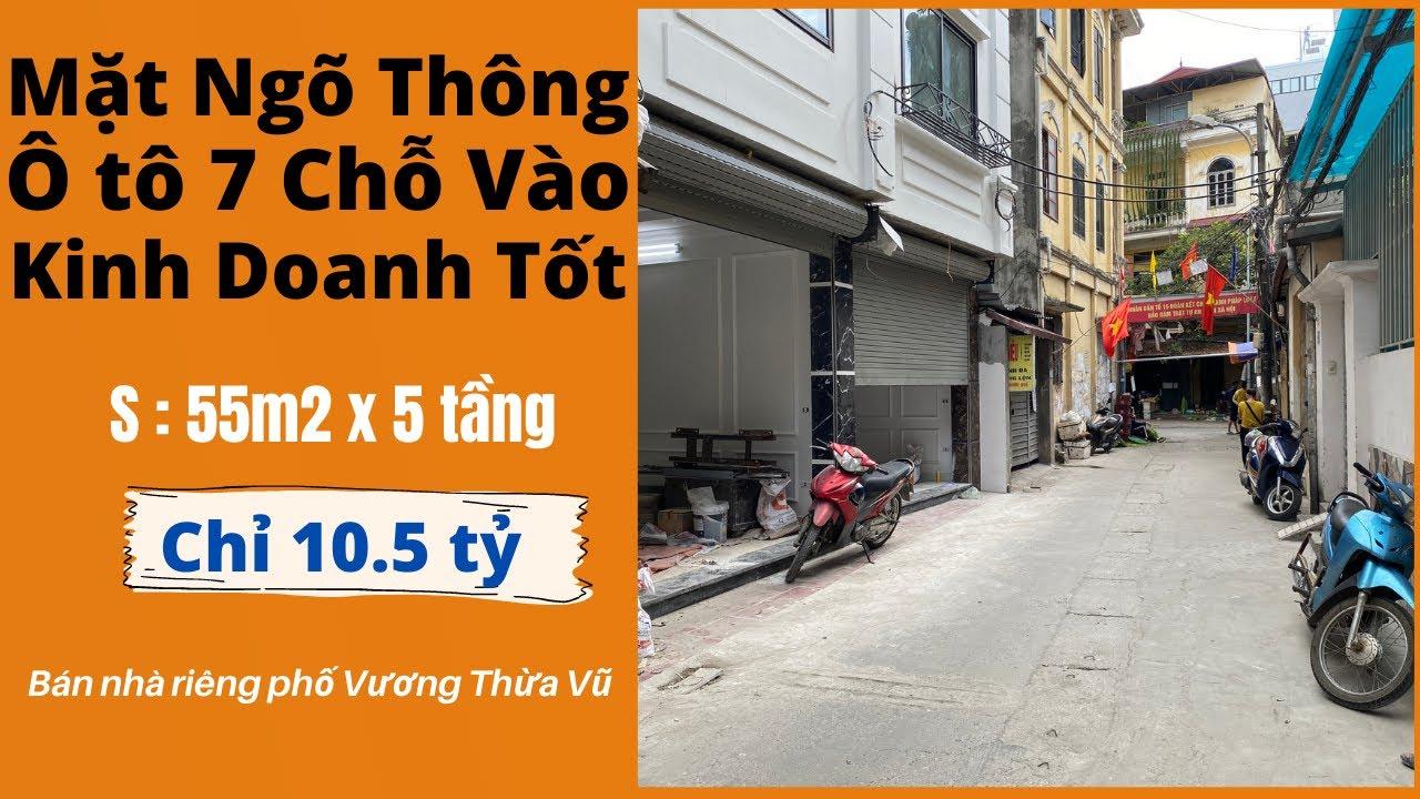 image Bán Nhà Hà Nội Có Thang Máy Ô tô 7 Chỗ Vào Nhà Mặt Ngõ Kinh Doanh Phố Vương Thừa Vũ