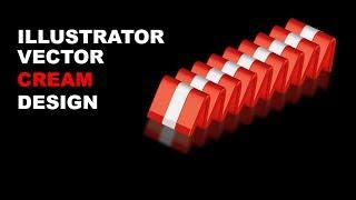 Vector cream work design in 5 minutes in adobe illustrator CC Tutorial