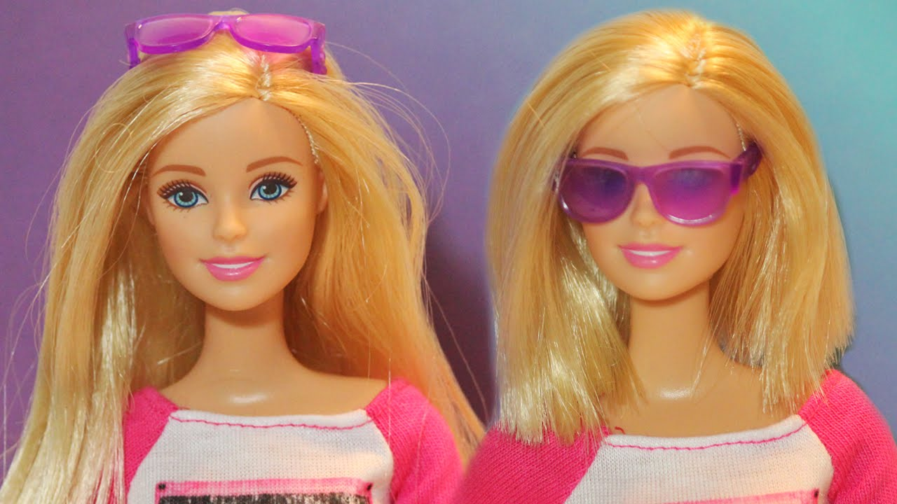 cut barbie doll hair