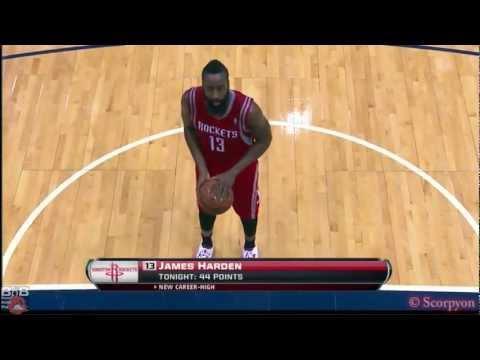 NBA Regular Season 2012/2013 - James Harden 45 points @Atlanta
