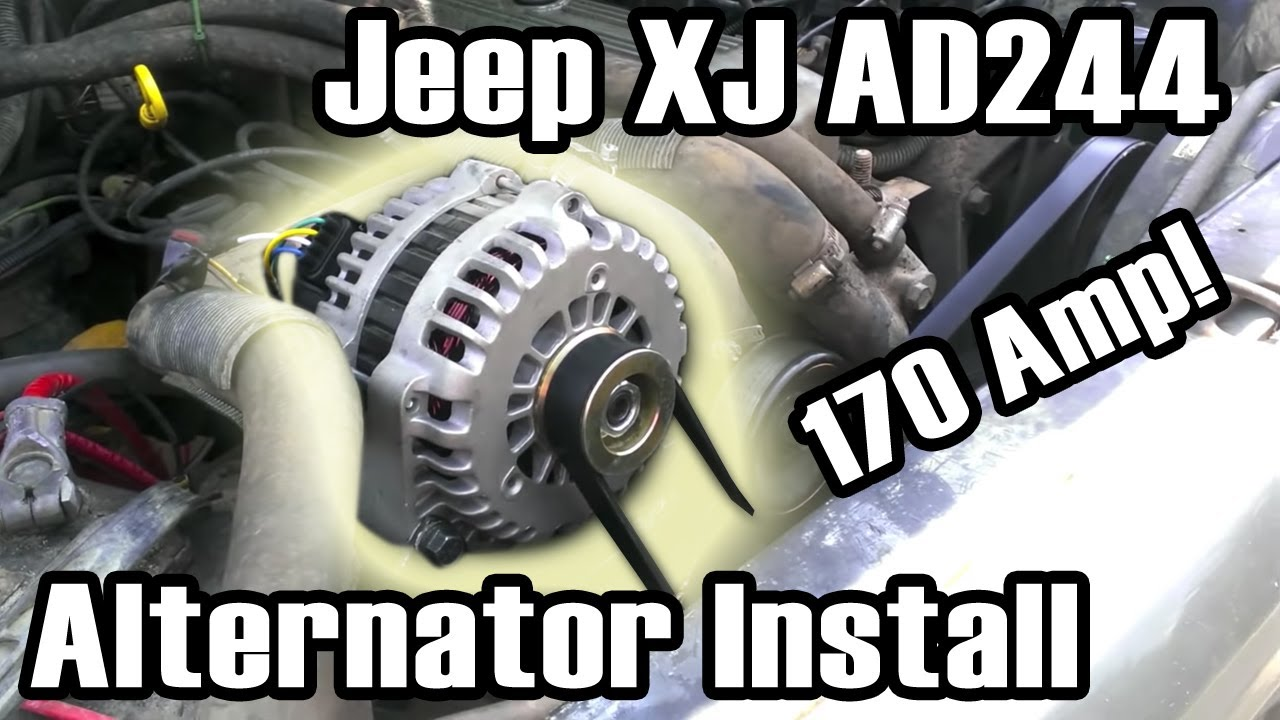 small resolution of 89 cherokee ad244 high amp alternator install