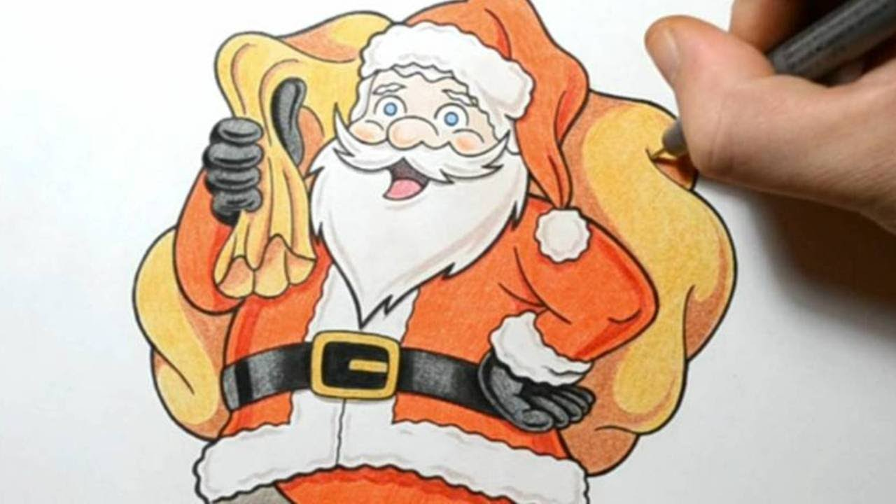 Uncategorized How To Draw Santa Clause how i draw santa claus cute cartoon style drawing youtube