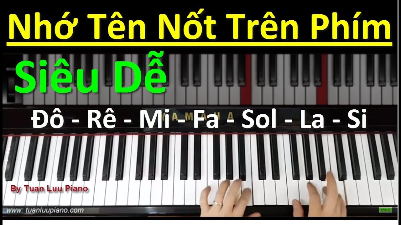 ✅ # 36 | Cách Nhớ Tên Nốt Trên Phím Piano Siêu Dễ | Nhớ Nốt Trên Phím Piano | Tuấn Lưu Piano |