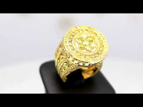 mens-14k-solid-yellow-gold-yellow-diamond-pinky-ring-15.90-ctw