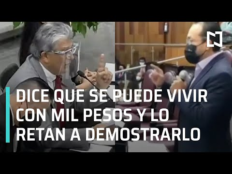 Funcionario de Veracruz dice que se puede vivir con mil pesos al mes: La Perla Negra - En Punto