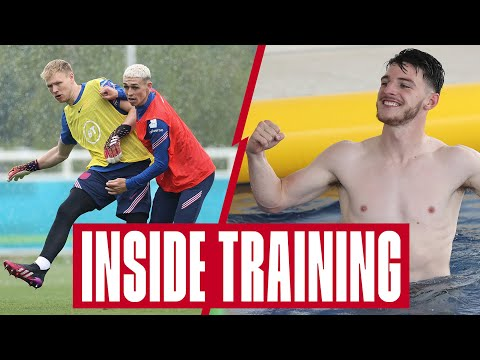 Pool Volleyball, Worldie Saves, Foden's Backheel & Recovery 🔥 Inside Training | England