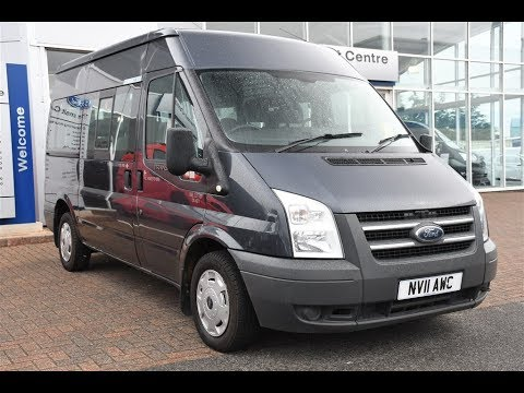 5c68599a94 Used Ford Transit Minibus Medium Roof 9 Seater TDCi 115ps Grey 2011 ...