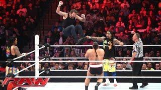 Dean Ambrose & The Usos vs. Sheamus, Rusev & King Barrett: Raw, December 28, 2015