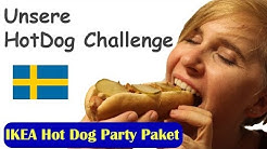 Hot Dog Challenge   IKEA Hot Dog Partypaket   StephieMotion