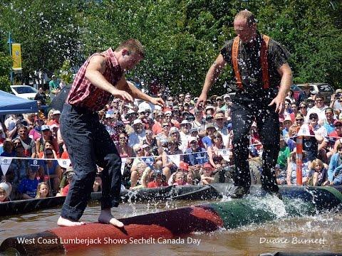 West Coast Lumberjack Shows Sechelt Canada Day 2015