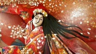 ときわ館(別館)で文弥人形の油絵を鑑賞