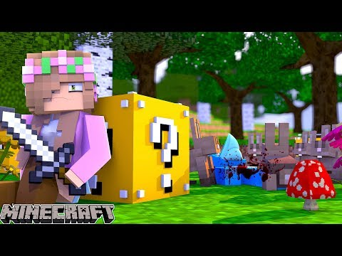 THE WORLDS MOST UNLUCKIEST BLOCK RACE!! Minecraft w/Sharky and Little Kelly