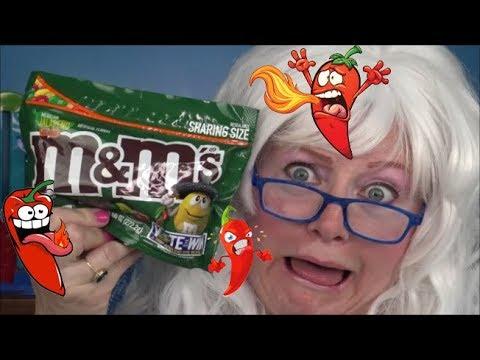 Jalepeno M&Ms Peanut Butter M&Ms Pretzel M&Ms Caramel M&Ms Taste Test Review
