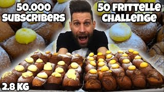 50 FRITTELLE Challenge (2.8KG - 9000 Calorie) - Speciale 50000 Iscritti - Mukbang Cheat Day