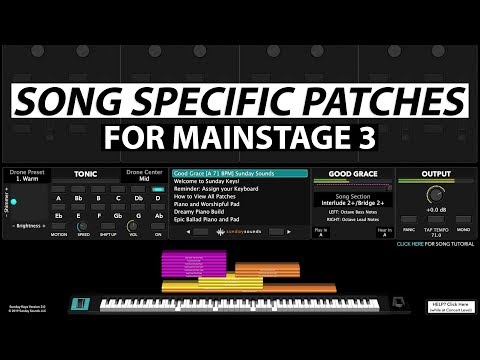 Song Specific MainStage Patches - What is a Song Specific Patch