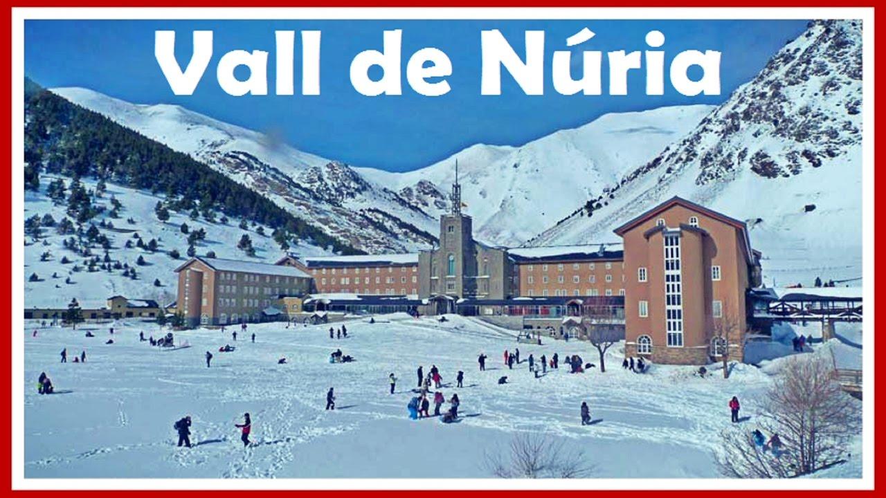 Vall de Núria en invierno: Tren Cremallera y Queralbs  Girona  Pirineo Cata...