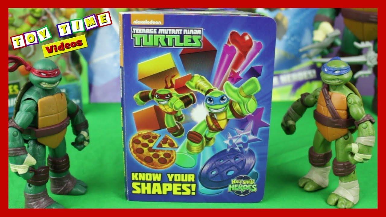Learn Shapes Colors W Teenage Mutant Ninja Turtles Tmnt Kids Toy Book Colour Fun Youtube