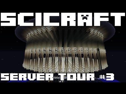 SciCraft Minecraft Server Tour #3 - GIGANTIC MOB FARM & EFFICIENT GUARDIAN XP FARM