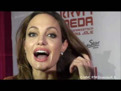 Angelina Jolie about visiting Slovenia (© MMC RTV Slovenija)