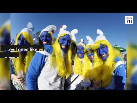 Watch: German town attempts Guinness record for largest smurf gathering