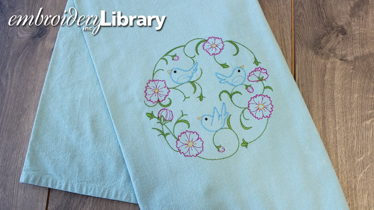 embroidering on floursack kitchen towels youtube