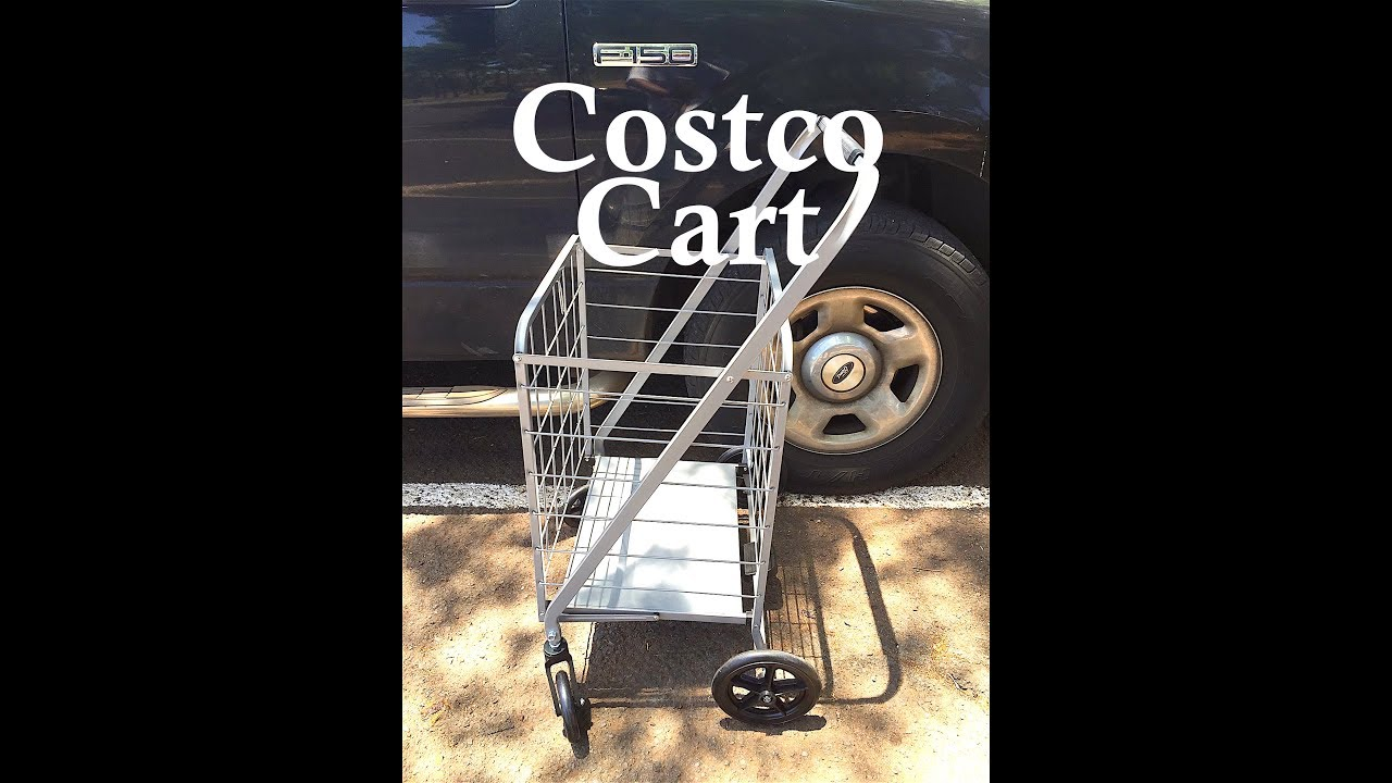 Folding heavy duty cart for fishing from costco youtube for Folding fishing cart