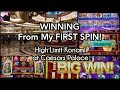 WINNING From My FIRST SPIN! High Limit Slots at Caesars Palace - Part 1