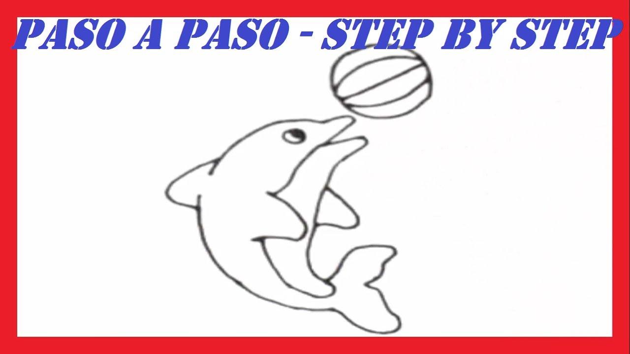 Como dibujar un Delfn l How to draw a Dolphin  YouTube