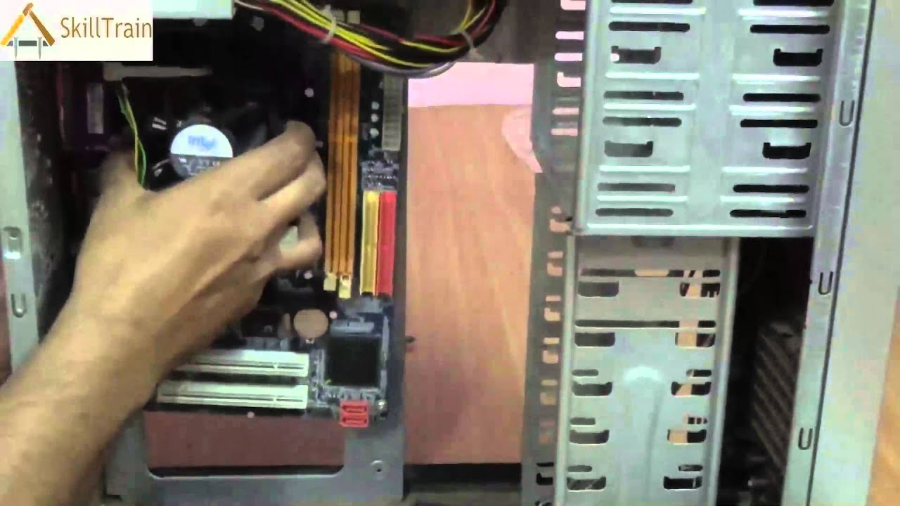 Assembling The Cabinet Of A Cpu Hindi Youtube Computer Diagram For Kids Personal