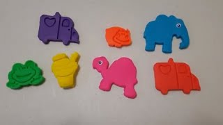 colors play doh modelling clay & cookie shapes molds princess surprise