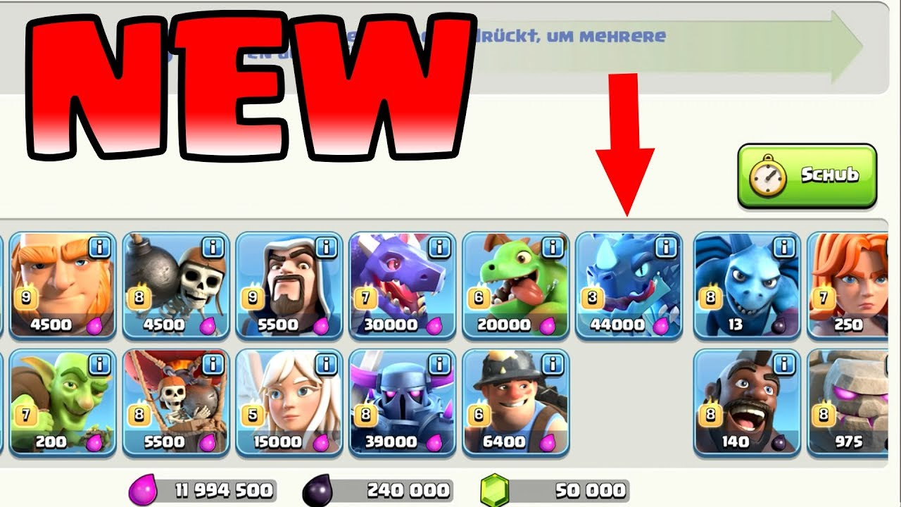 TH12 NEW TROOP Clash of Clans Update TH12 || KQ Level 60