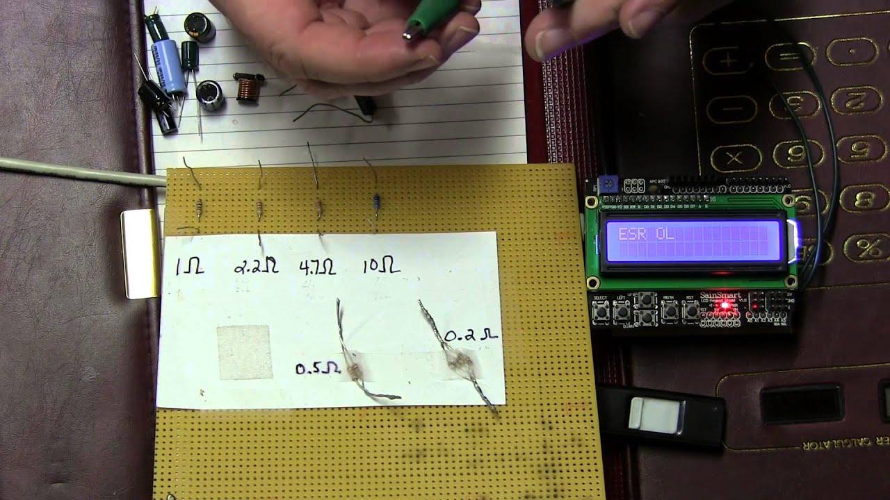 Diy Esr Meter : Diy arduino esr meter shield part intro demo youtube