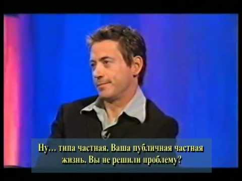 Robert Downey jr. Skinner Interview с русскими субтитрами