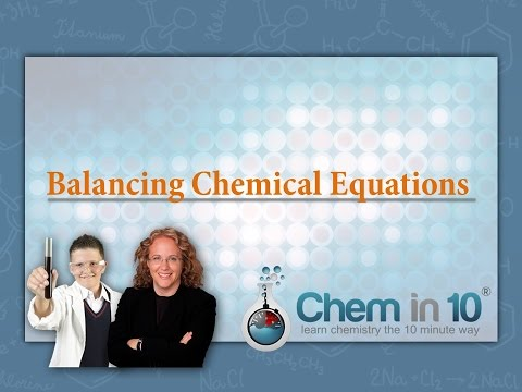 How To Balance Chemical Equations Learn Chemistry Online Online Chemistry Tutoring