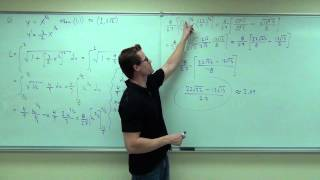 Calculus 1 Lecture 5.4: Finding the Length of a Curve on a Plane